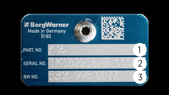 Finn turbonummer, Borg Warner, KKK, finn originalnummer, bytte turbo, skilt, plate,